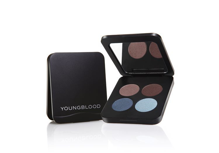 Youngblood Pressed Mineral Eyeshadow Quad Glamour Eyes 4 g