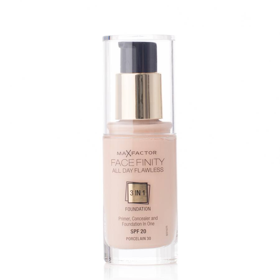 Max Factor Facefinity All Day Flawless 3-in-1 Foundation SPF20 30 Porcelain 30 ml