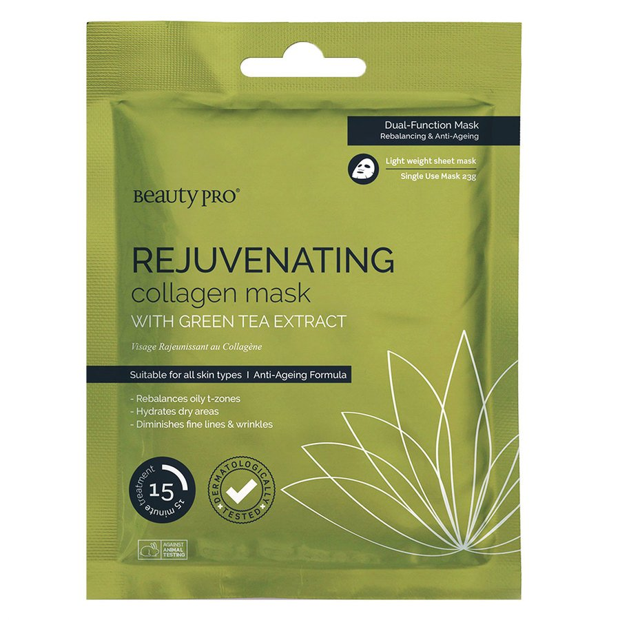 BeautyPro Rejuvenating Collagen Sheet Mask With Green Tea Extract 23 g