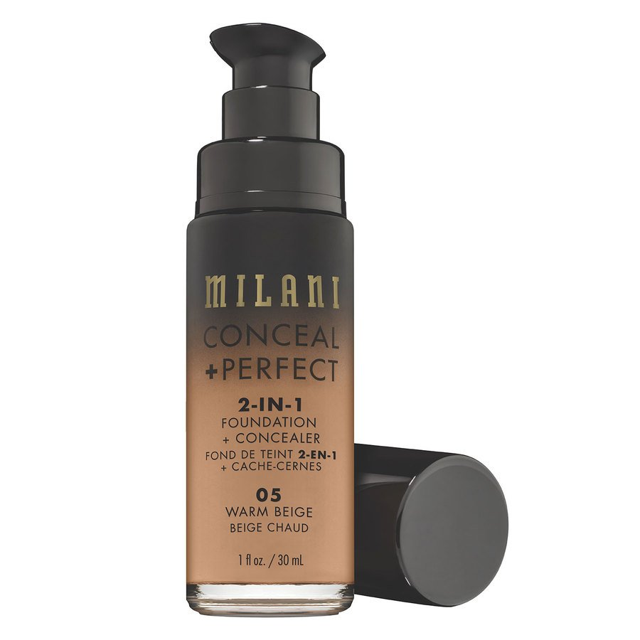 Milani Conceal & Perfect 2 In 1 Foundation + Concealer Warm Beige 30ml