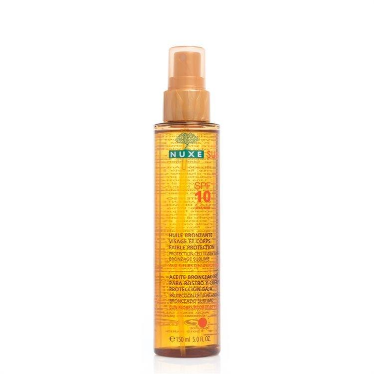 Nuxe Tanning Oil Face And Body Spf10 150 ml