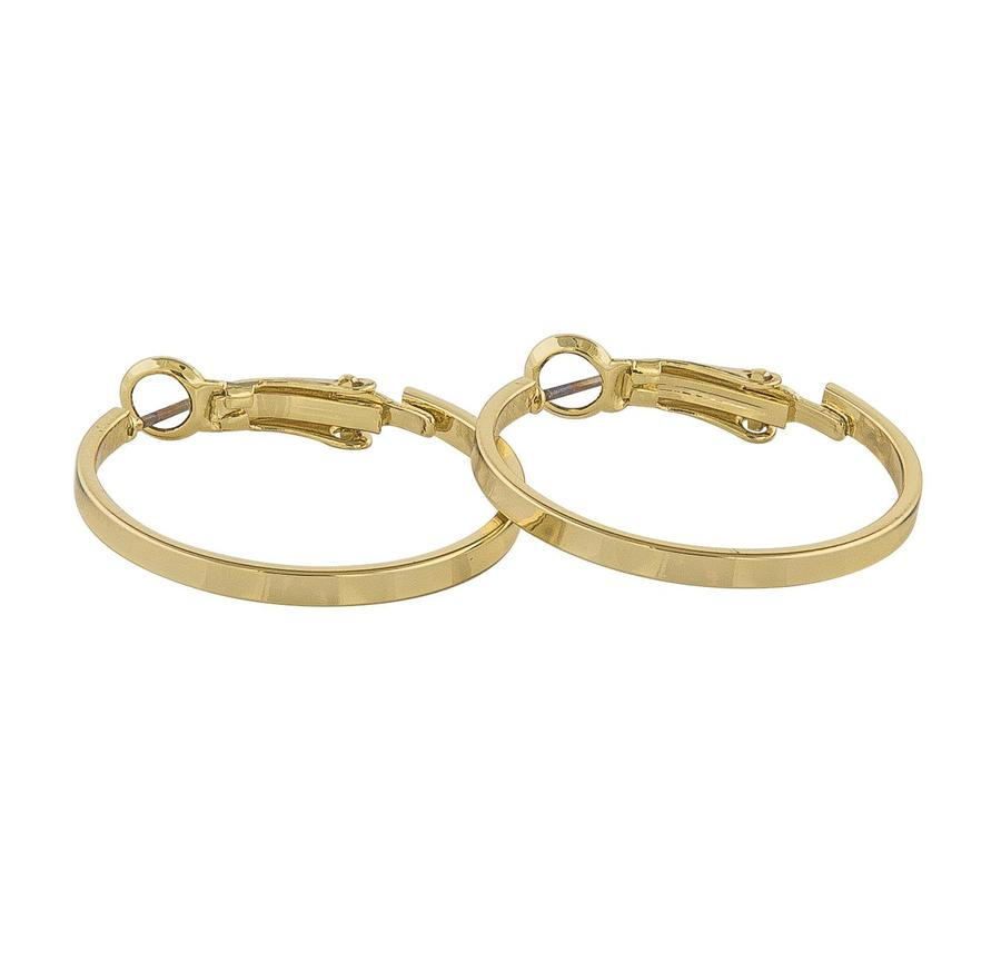 Snö of Sweden Moe Ring Earring Plain Gold 25 mm