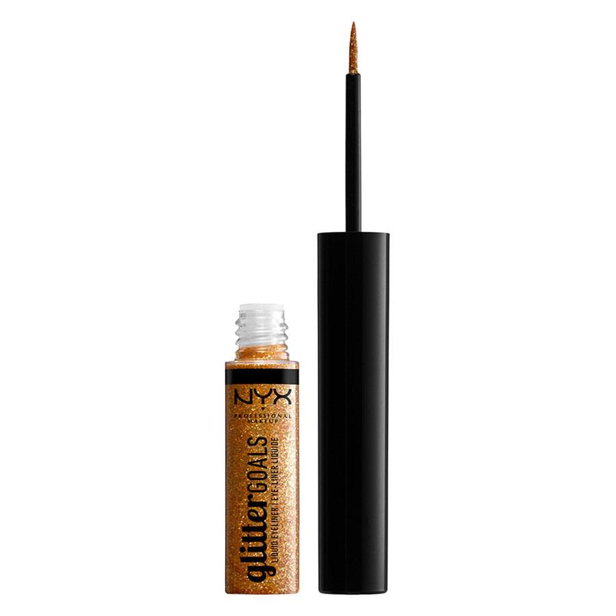 NYX Professional Makeup Glitter Goals Liquid Eyeliner Copper 4ml