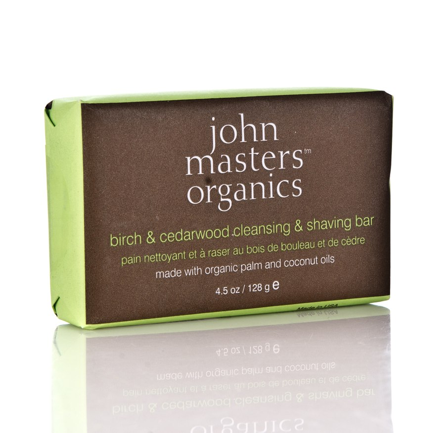 John Masters Organics Birch & Cedarwood Cleansing & Shaving Bar 128 g