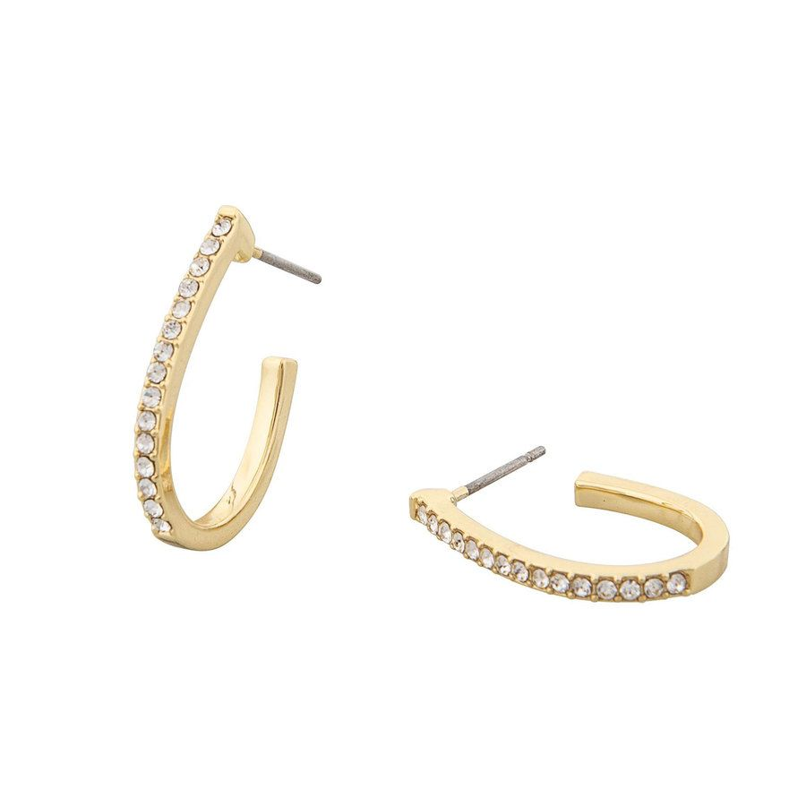 Snö of Sweden Corinne Oval Earring Gold/Clear
