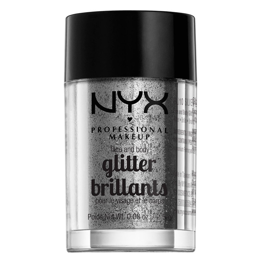 NYX Professional Makeup Face And Body Glitter Brilliants Silver GLI10 2,5 g