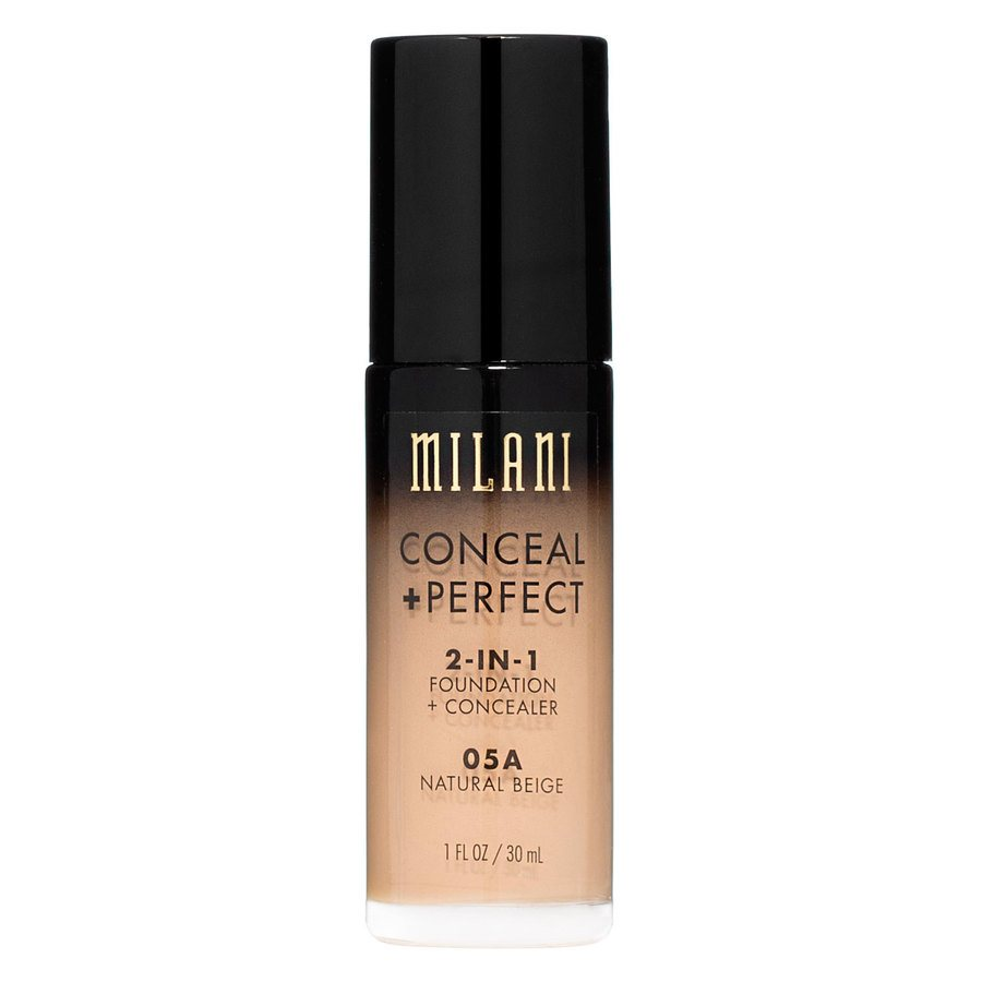 Milani Conceal & Perfect 2 In 1 Foundation + Concealer Natural Beige 30ml