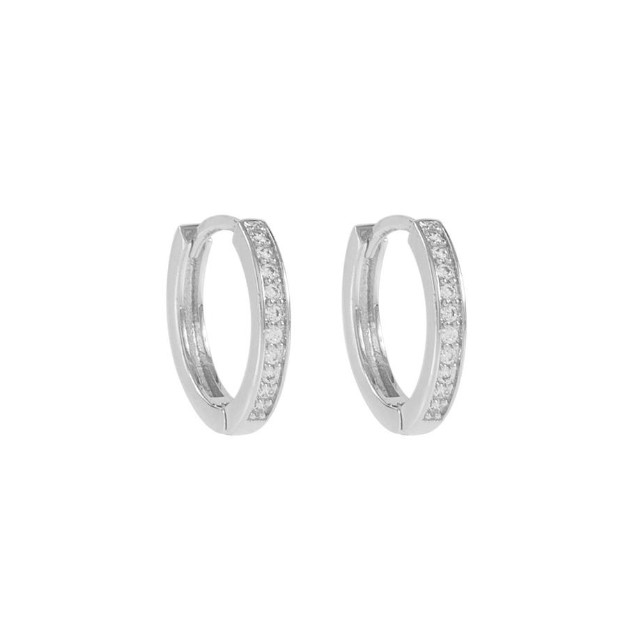 Snö of Sweden Elaine Small Earring Silver/Clear 14 mm