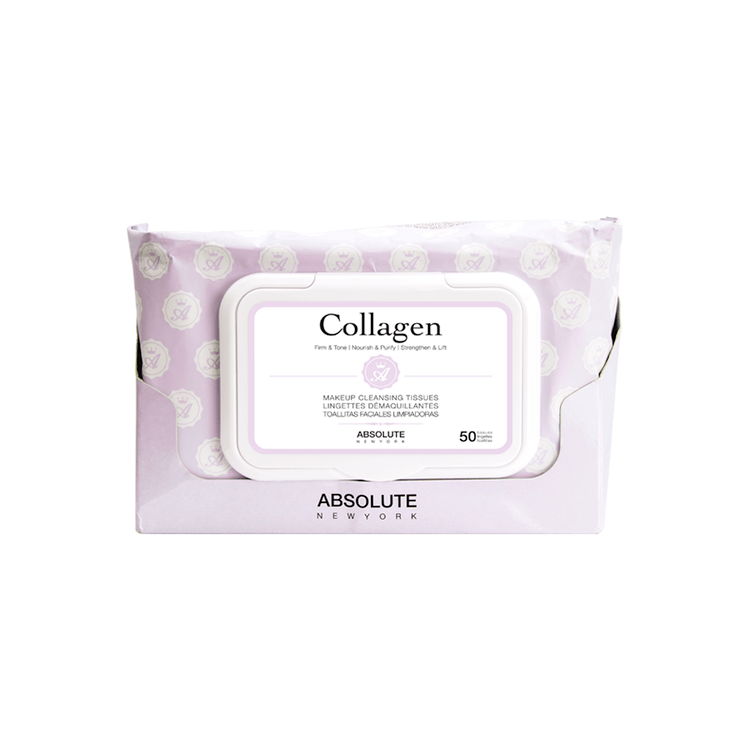 Absolute New York Makeup Cleansing Tissues Collagen 50 st.