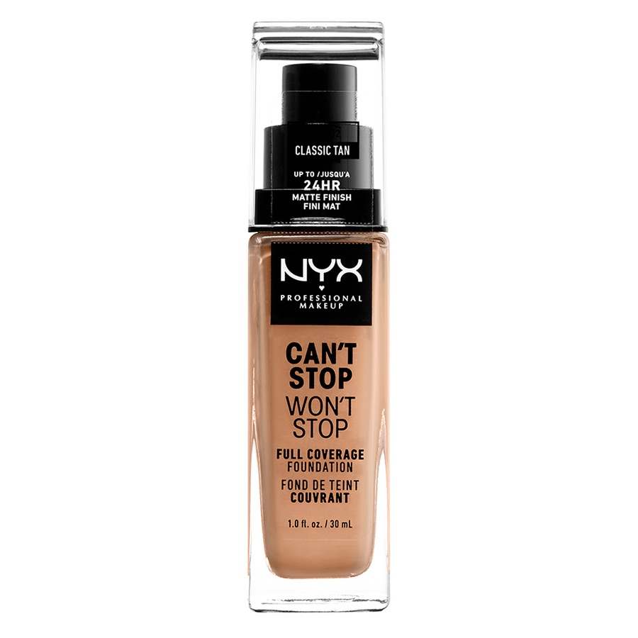 NYX Professional Makeup Can't Stop Won't Stop Full Coverage Foundation Classic Tan 30 ml