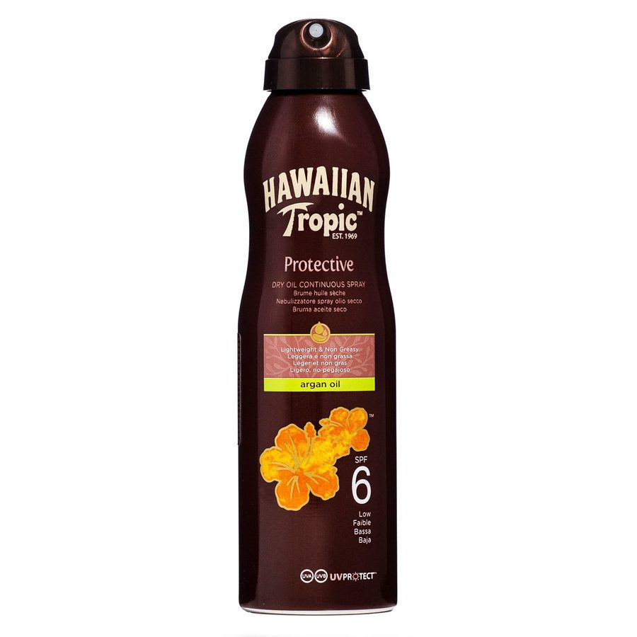 Hawaiian Tropic Protective Dry Oil Continuous Spray SPF6 177ml