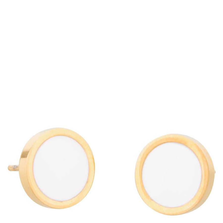 Snö of Sweden Palermo Earring Gold/White