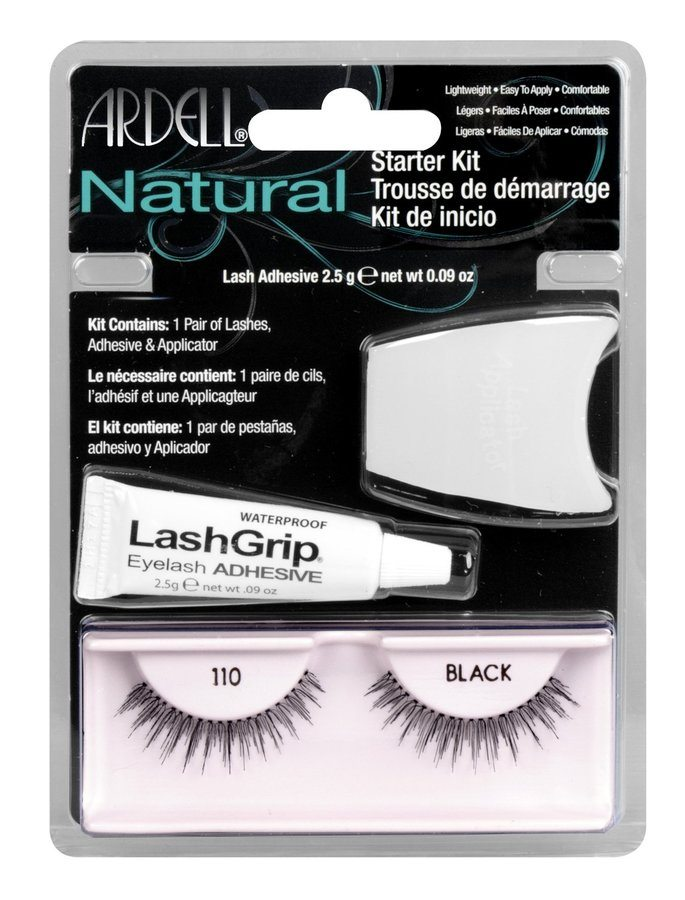 Ardell Natural Fashion Lashes Starter Kit -110 Black (3 delar)