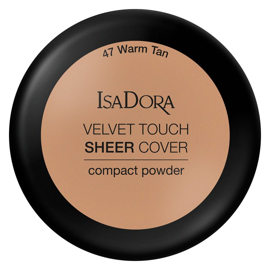 IsaDora Velvet Touch Sheer Cover Compact Powder 47 Warm Tan 7,5 g