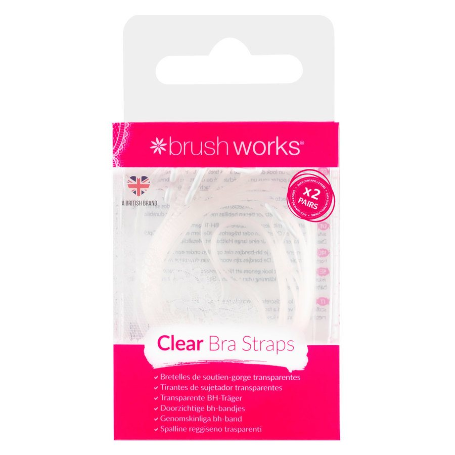 Brush Works Clear Bra Straps x 4