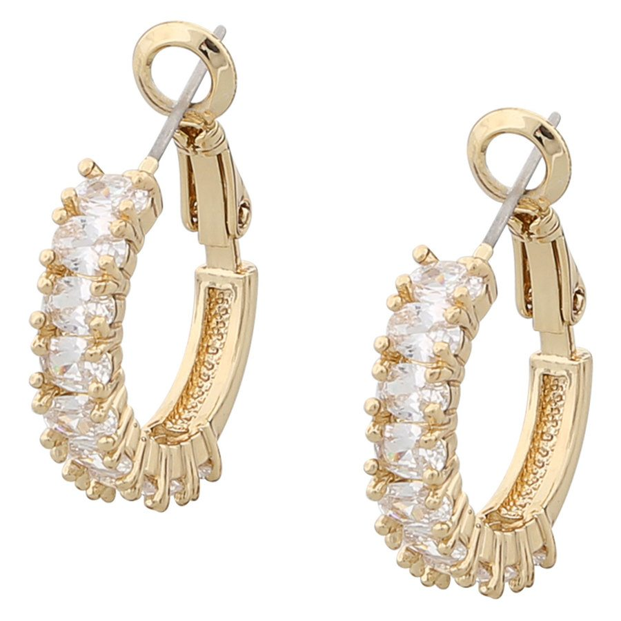 Snö of Sweden Kathy Ring Earring, Gold/Clear