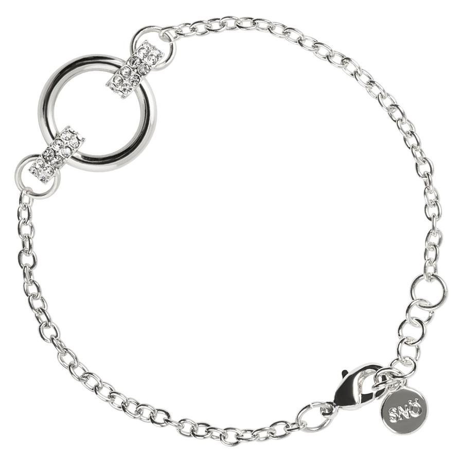 Snö of Sweden Adara Chain Bracelet Silver/Clear