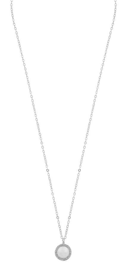 Snö of Sweden Daria Pearl Pendant Necklace Silver/White