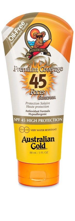 Australian Gold Premium Coverage Sheer Face Spf45 88ml