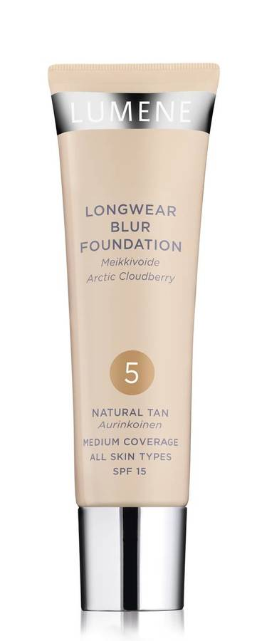 Lumene Longwear Blur Foundation SPF15 5 Natural Tan 30ml