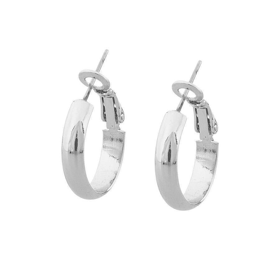Snö of Sweden Donna Small Ring Earring Plain Silver