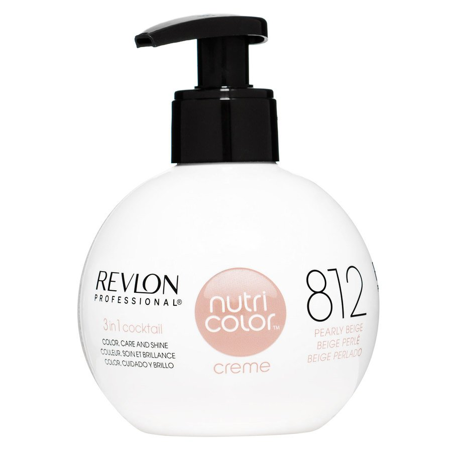 Revlon Professional Nutri Color Creme 270ml #812 Light Pearly Beige Blonde