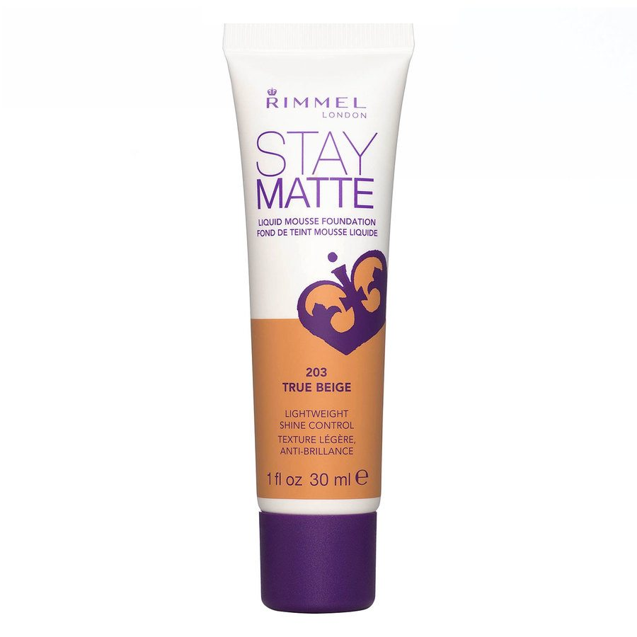 Rimmel Stay Matte Liquid Mousse Foundation True Beige 203 30ml
