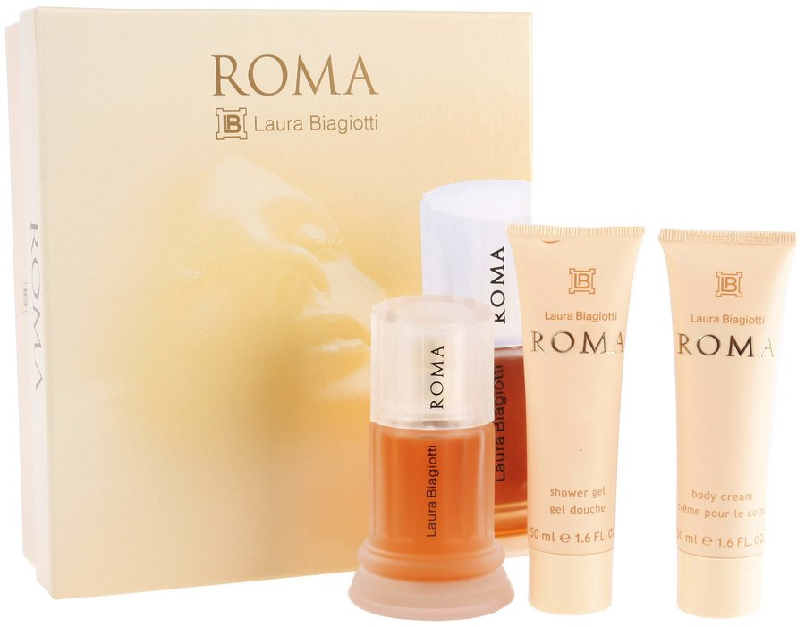 Laura Biagiotti Roma Eau De Toilette 50 ml For Women (presentset i 3 delar)